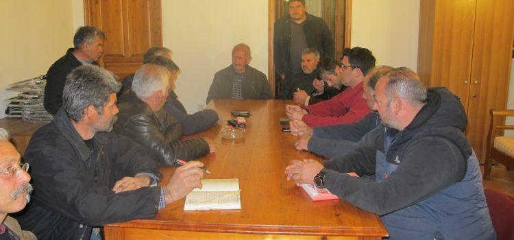 Συνάντηση Βασίλη Βρούτση με την Κτηνοτροφική Ένωση Φιλωτίου