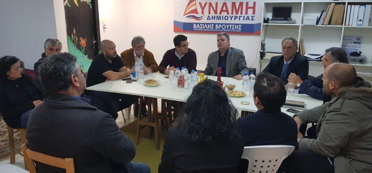 Συνάντηση με τον υποψήφιο περιφερειάρχη Μανώλη Γλυνό